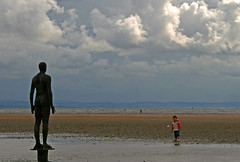 """Archive Tuesday  - 34 - """"Hey Mister, haven't I seen you somewhere before?"""" (odell_rd) Tags: antonygormley artinstallation crosby"""
