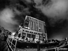 City Night (B & W Version) (souravmojumder) Tags: bw black white long exposure night photography skyline sky gulshan