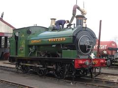 IMG_4702 - GWR Hudswell Clarke Saddle Tank 813 (SVREnthusiast) Tags: didcotrailwaycentre didcot railway centre gwrhudswellclarkesaddletank813 gwr hudswellclarke saddletank 813