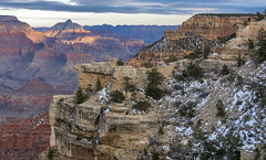 Grand Canyon (acase1968) Tags: ryan ellie grand canyon winter snow sunset dusk nikon d500 nikkor 24120mm f4g arizona landscape hiking cliffs red rock