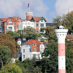 2586 Süllberg in Hamburg Blankenese - Leuchtturm am Elbufer. (christoph_bellin) Tags: hamburg elbe altona leuchtturm blankenese elbufer bezirk süllberg stadtteil