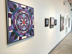 """""""Metamorphosis"""" in the Banana Factory Resident Artist Annual Exhibition Pt. 1 09/14 (Stephanie """"Biffybeans"""" Smith) Tags: blue red art painting artist purple geometry vibrant modernart mandala selftaught sacred meditation spirituality psychedelic lehighvalley visionary stephaniesmith transformational sacredart sacredgeometry visionaryartist personalgrowth bananafactory biffybeans"""