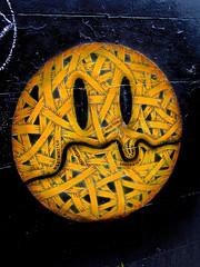 Smile, London, UK (Robby Virus) Tags: chile city uk greatbritain england london english smile face yellow artist unitedkingdom britain map greenwich smiley otto british chilean schade