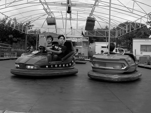 Bumper cars in Vinça, France