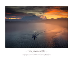 ... misty Mount KK ... (liewwk - www.liewwkphoto.com) Tags: bridge sunrise dawn boat mount kotakinabalu sabah kota kk kinabalu sampan mengkabong mengkabongbridge liewwk liewwknature liewwksabah liewwksunrise