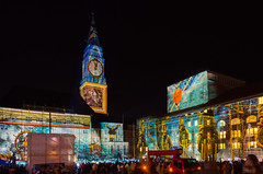 Rathausplatz - Festival of Lights 1 (Jenner Ka) Tags: illumination festivaloflights kiel rathausplatz