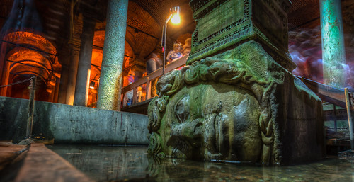 Medusa in the Basilica Cistern