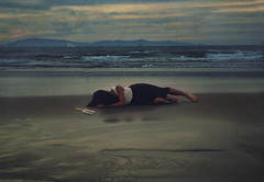Shipwrecked (tialiu) Tags: ocean sky selfportrait beach self dark boat message fineart surreal conceptual edit inabottle brookeshaden