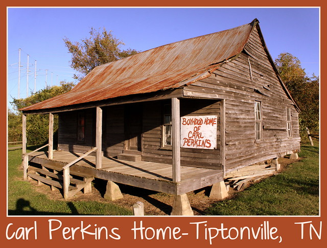 Things for Sale: Postcard: Carl Perkins Home - Tiptonville, TN
