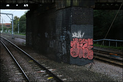 Dize (Alex Ellison) Tags: urban graffiti 1 boobs tag railway line graff huh irp trackside pbk northwestlondon dize 1ls