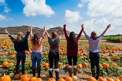 Love (AdrienneCredoPhotography) Tags: california autumn friends fall love halloween clouds pumpkin nikon patch irvine d3200