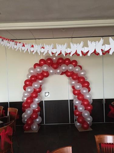 Ballonboog 5m Rood Wit Restaurant Grevelingen Bruinisse