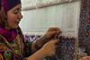 Carpet weaver (Ru Stam) Tags: canon carpet hand silk made rug weaver uzbekistan samarkand weaving 1755mm 50d