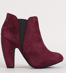 "two tone round toe chunky heel chelsea bordeaux • <a style=""font-size:0.8em;"" href=""http://www.flickr.com/photos/64360322@N06/15323353638/"" target=""_blank"">View on Flickr</a>"