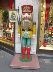 giant wooden soldier (squeezemonkey) Tags: berlin shop display german woodensoldier kthewohlfahrt
