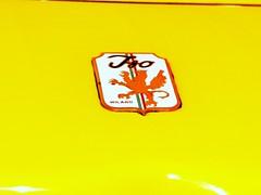 Iso Grifo GL 350 Coup 7 litre (1969) (Transaxle (alias Toprope)) Tags: auto italy classic cars 1969 beauty car yellow vintage emblem logo design italian essen nikon italia power antique voiture historic iso giallo 350 badge soul tc classics 427 techno oldtimer salon autos macchina v8 coup voitures toprope gl grifo bertone technoclassica 4speed macchine topspeed 300club classica d90 7litre 300kmh club300 handshift 427ci 427cu chevyv8 gl350 427cui gl850218