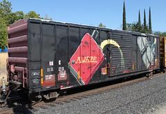 Aware (abettertomorrow) Tags: graffiti trains boxcar freight aware wholecar e2e benching