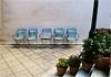 Five Chairs - Πέντε θέσεις (Hindrik S) Tags: πέντεθέσεισ five chairs patio plaats vijf stoelen γούβεσ gouves kriti kreta crete wall floor muur vloer binnenplaats steps trep trap flower bloempot κρήτη greece ελλάδα tamron tamronspaf1750mmf28xrdiiildasphericalif tamron1750 1750 sonyphotographing sony sonyalpha α57 a57 slta57 f80 20mm 160 iso125 amount