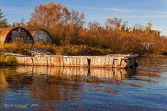 Double Round (Wade.J.) Tags: autumn trees roof lake fall newfoundland landscape dock pond nikon labrador shed quay explore wharf round tamron seaplane d800 gander tamron2875 wadejanes