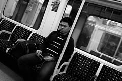 Angry China (berkiybar) Tags: china street travel bw london monochrome underground metro candid angry fujifilm londra ingiltere bnw gezi siyah in
