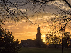 St Chad's Sunrise (Mike Ashton) Tags: park uk sky tree silhouette clouds sunrise dawn shropshire shrewsbury quarry stchads