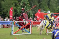 Impact! Jousting at Leeds Castle (randallphilip79) Tags: horses horse castle history june fight smash leeds lance impact acting duel shield aim split reenactment jousting splinters 2013 canon60d philrandallphotography2015
