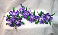 DSCF8719 (EruwaedhielElleth) Tags: iris flower floral set hair japanese pin handmade seasonal decoration may craft maiko ornament fabric hana geisha folded hairpin tsumami ayame kanzashi acessory zaiku kisetsubana imlothmelui