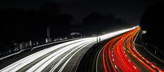 Autobahn (sicknotepix) Tags: autobahn nachts langzeitbelichtung