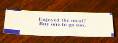 Lamest fortune ever? (mag3737) Tags: cookie fortune lame