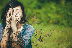 IMG_9755 (walkthelightphotography) Tags: autumn brown girl field grass hands singapore branches prayer portraiture driedleaves twines