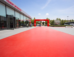 Ferrari Museum (Hans van der Boom) Tags: red italy museum entrance it ferrari museo modena maranello itali