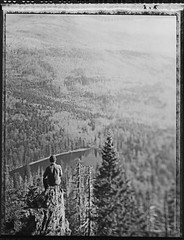 From Above I Wachted Around (Bastiank80) Tags: life from above camera trees bw white lake black mountains film analog forest polaroid woods live being large free human instant 4x5 sheet format around wilderness peaks 55 expired ebony watched summits bastiank sv45ti