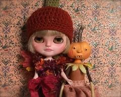 Tallulah and the pumpkin girl....