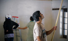 Caption  Service Project - Mandali Hall Cleaning