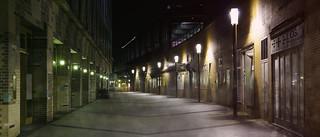 Berlin street at night