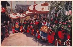Tayuu no dochu - Courtesan parade (noel43) Tags: japan japanese kyoto district prostitute parade prostitution redlight pleasure meiji yoshiwara taisho shimabara oiran tayu tayuu kamuro