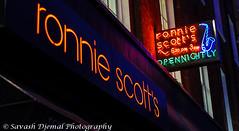 Ronnie Scotts DSC_8905.jpg (Sav's Photo Gallery) Tags: street city uk streetart abstract colour london night reflections cafe outdoor soho capital eds flourescant d7000 savash
