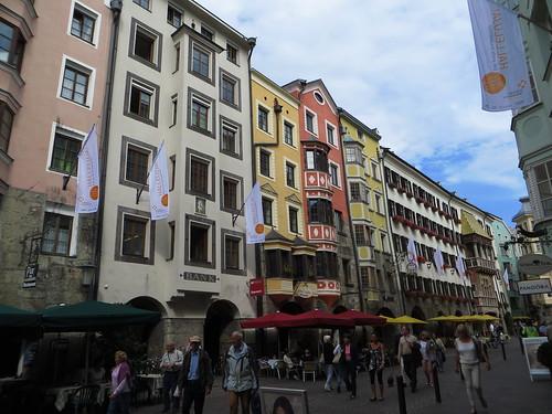 20140904 140 Rom Innsbruck Hausfassaden Fenster Goldenes Dachl