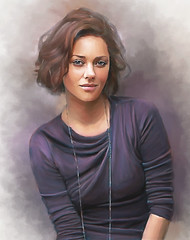 Retrato (zubillaga61) Tags: portrait painterly mujer women retrato corelpainter actriz marioncotillard