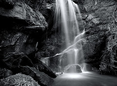Roughting Linn (Elidor.) Tags: bw fall mono waterfall northumberland northeast d90 elidor roughtinglinn broomridgeburn