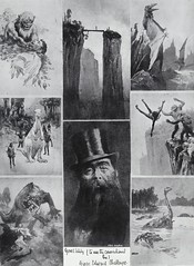 """The Leader of the Explorers, with some of their Adventures. Doyle's """"The Lost World"""" (The Strand, April 1912) (lhboudreau) Tags: southamerica illustration magazine dinosaur drawing plateau illustrations drawings adventure jungle sciencefiction doyle 1912 magazines prehistoric thestrand dinosaurs strandmagazine lostworld arthurconandoyle conandoyle thelostworld professorchallenger thestrandmagazine britishmagazine fantasystory sciencefictionstory prehistoricworld illustratedmagazine fictionstories georgenewnes southamericanjungle georgechallenger lostplateau professorgeorgechallenger fictionmagazine"""