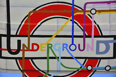 London Bus Trail, Tunnel Vision By One Red Shoe (Martin Pettitt) Tags: uk autumn sculpture london october dslr londoncity tunnelvision 2014 busart oneredshoe afsdxvrzoomnikkor18200mmf3556gifedii nikond7100 yearofthebus londoncitybustrails