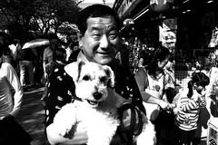 Tokyo 2014 (Dance with the Strangers) Tags: people dog monochrome temple sensoji japanese blackwhite photographer 28mm streetphotography documentary asakusa 2014 candidportrait tokyocity urbanasia grdiv ricohgrd4
