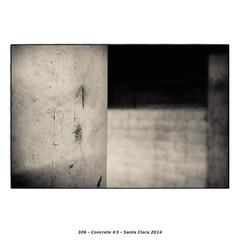 Concrete #3 (Godfrey DiGiorgi) Tags: california urban bw stilllife usa abstract detail concrete us garage neighborhood santaclara form