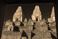 East Mebon in Sepia (Pavlo Kuzyk) Tags: ancient khmer temple sky canon cambodia