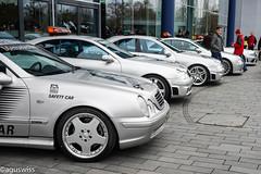 Mercedes F1 Safety Car Armada (aguswiss1) Tags: mercedesf1safetycararmadaclk55cl55c55clk63sl63 mercedes f1 safetycar armada lineup clk55 cl55 c55 clk63 sl63 racing racar racer supercar sportscar fia formel1 silberpfeil