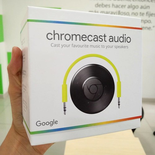 Google Chromecast Audio ya disponible en @compudemano, ideal para reproducir tu música favorita en cualquier parlante. #cadadiamejor. Visita nuestra tienda o llámanos Bogotá: (1) 381 9922 - Medellín: (4) 204 0707 - Cali (2) 891 2999 - Barranquilla: (5) 31
