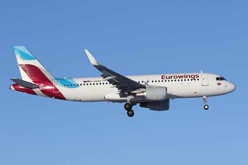 Eurowings Airbus A320-214(WL) D-AEWQ 170225 ARN