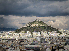 Lykavittos Hill (Tassos Giannouris) Tags: lykavittos hill landscape greece athens nature trees city building clouds sky view cityscape
