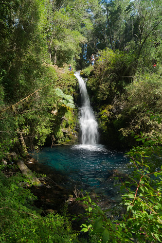 Waterfall, ojos del Caburgua